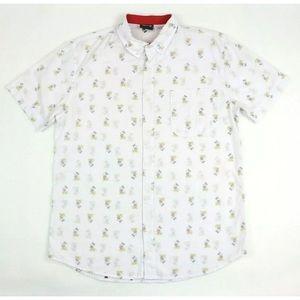 Disney Mickey Mouse M Reverse Print Button Shirt